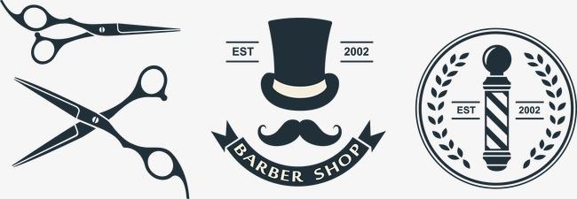 650x225 Barber Shop Tools And Signs, Barber Vector, Shop Vector, Tools