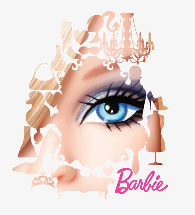 650x714 Barbie Eye, Eye Vector, Barbie Painted Eyes, Barbie Vector Png And