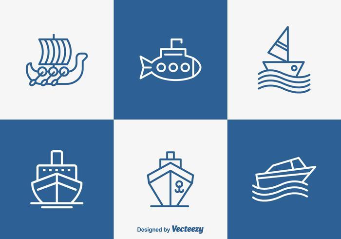 700x490 Iconos Libres Del Barco Del Barco Y De La Nave Del Esquema