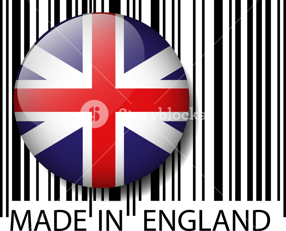 1000x808 Made In England Barcode. Vector Illustration Royalty Free Stock
