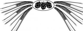 336x129 Vector Hops And Barley Vector Clip Art