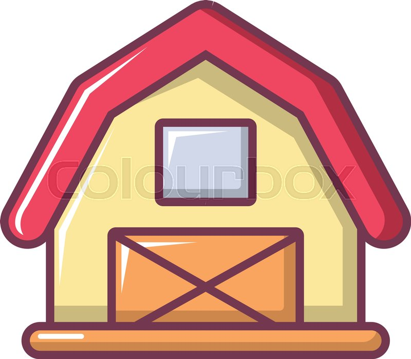 800x698 Red Horse Barn Icon. Cartoon Illustration Of Red Horse Barn Vector