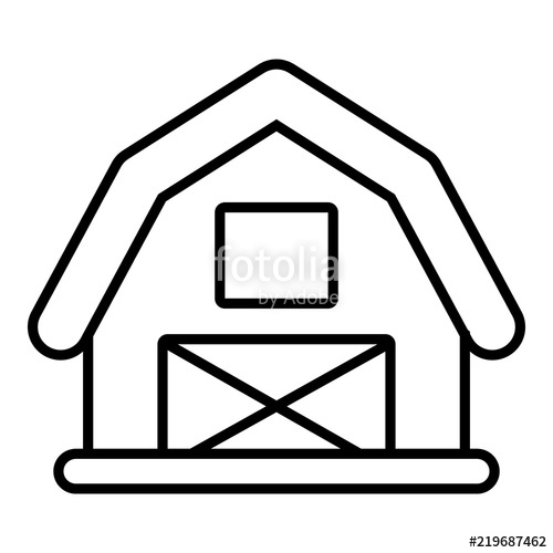 500x500 Horse Barn Icon. Outline Illustration Of Horse Barn Vector Icon