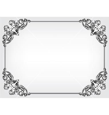 380x400 18 Baroque Frame Vector Border Images
