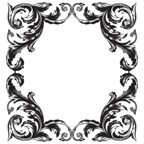 500x500 Classical Baroque Style Frame Vector Design 01 Free Download
