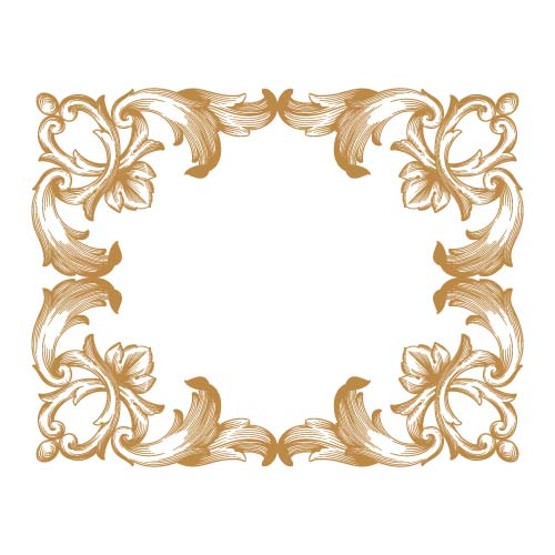 500x500 Classical Baroque Style Frame Vector Design 04 Free Download