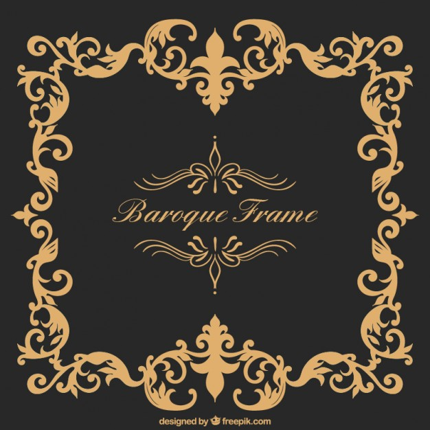 626x626 Baroque Frame Vector Free Download