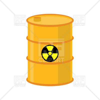 400x400 Chemical Waste Yellow Barrel Vector Image Vector Artwork Of