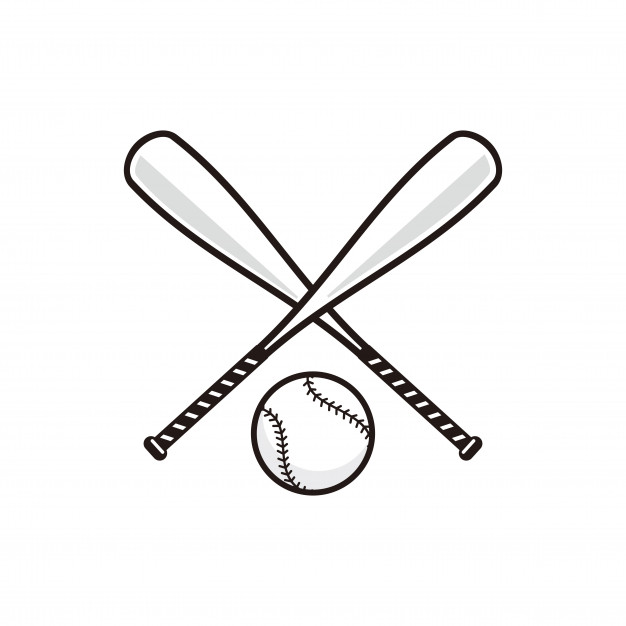 626x626 Baseball Bat With Baseball Ball Vector Vector Premium Download
