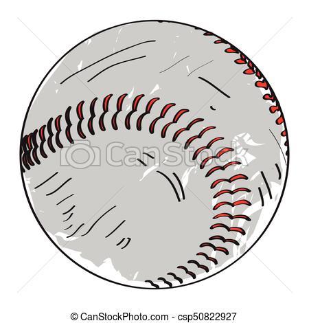 450x470 Retro Baseball Ball. Isolated Retro Baseball Ball On A White