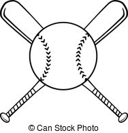 188x194 Crossed Bats Clipart Baseball Bat Vector Pencil And In Color