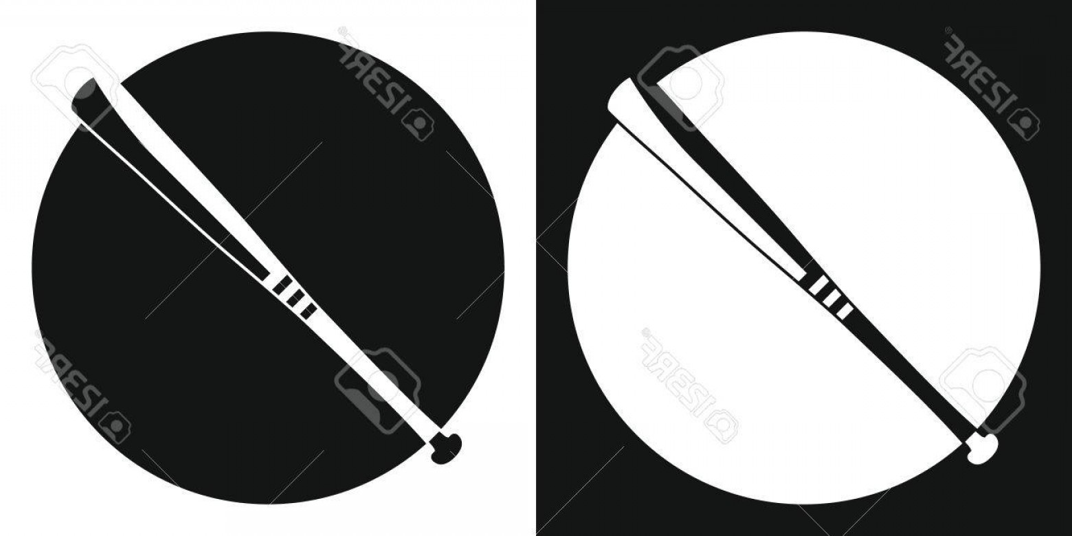 1560x780 Photostock Vector Baseball Bat Silhouette Baseball Bat On A Black