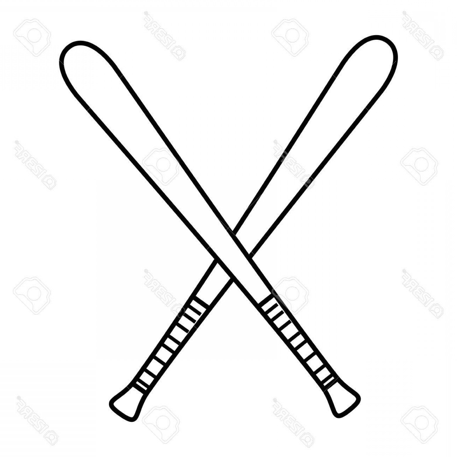 1560x1560 Photostock Vector Baseball Bats Crossed Icon Over White Background
