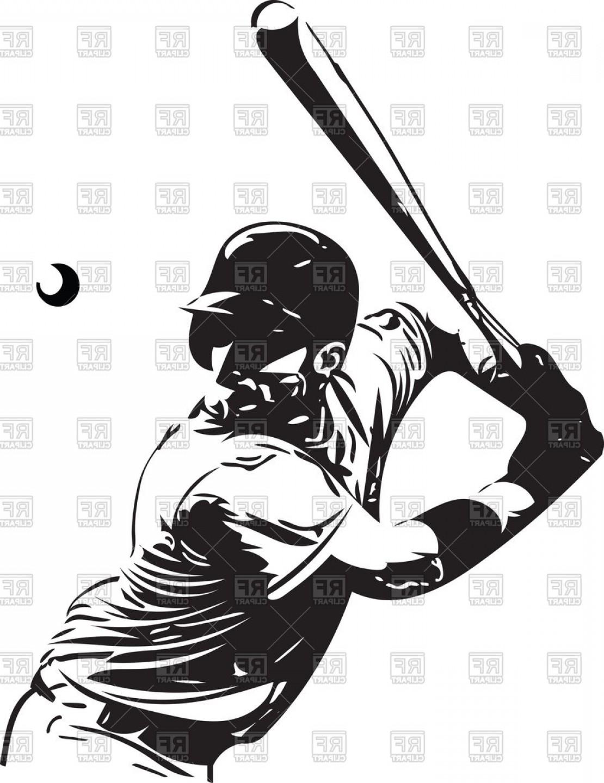1110x1440 Baseball Player With Baseball Bat Vector Clipart Lazttweet