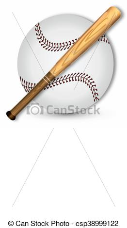 262x470 Baseball Ball And Bit. Baseball And Baseball Bat, Vector Art