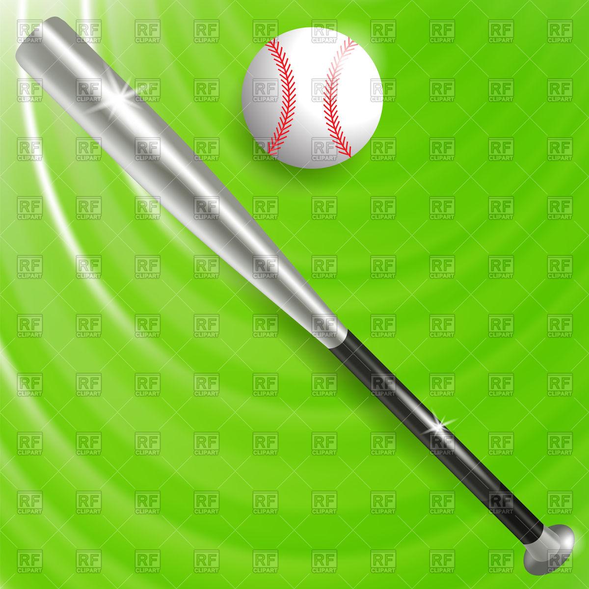 1200x1200 Baseball Bat And Ball Background Vector Image Vector Artwork Of