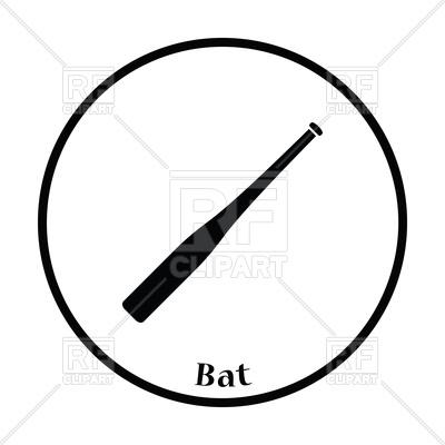 400x400 Baseball Bat Icon Vector Image Vector Artwork Of Sport And