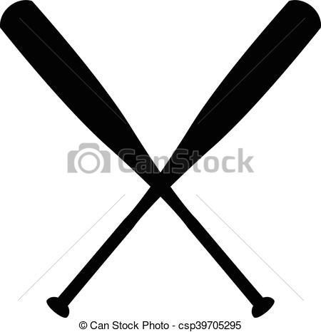 450x466 Baseball Bat Vector.