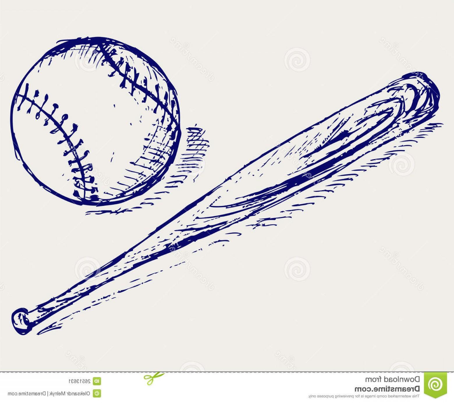 1560x1386 Stock Illustration Doodle Baseball Bat Vector Sketch Illustration
