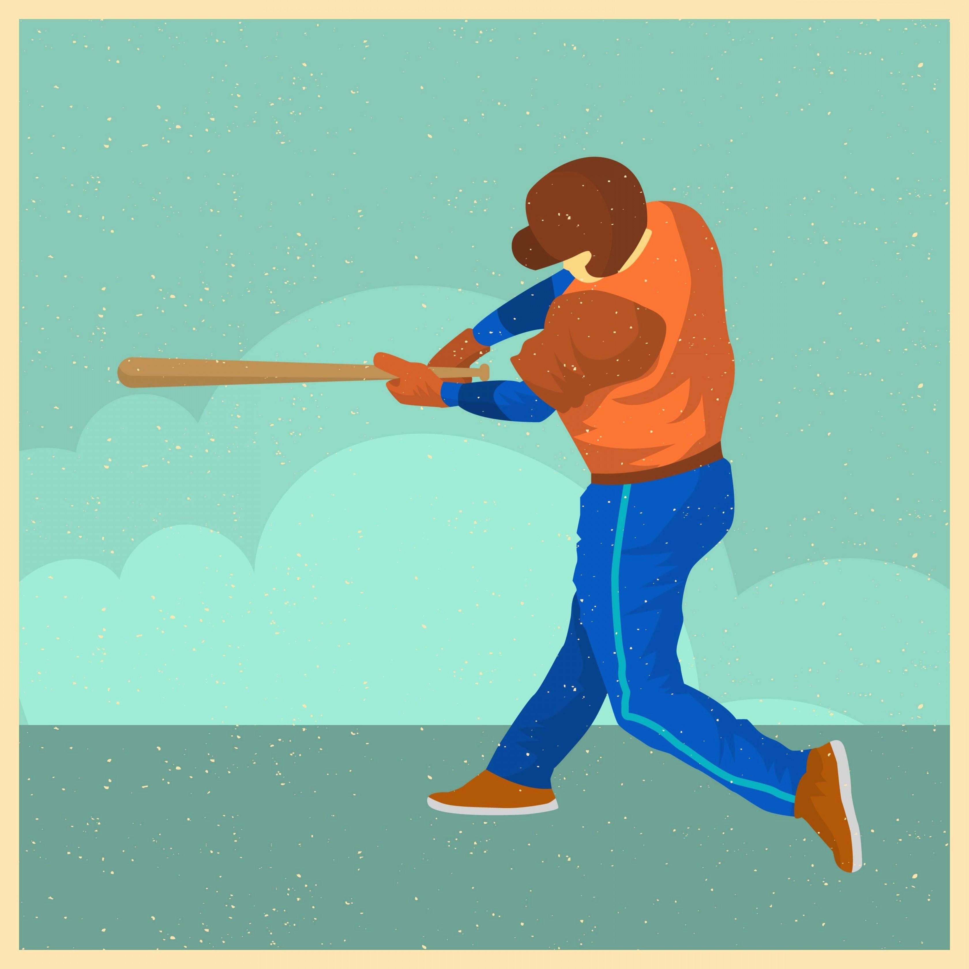 3360x3360 Baseball Bat Vector New Softball Free Vector Art Free Downloads