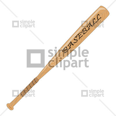 400x400 Baseball Bat Vector Image