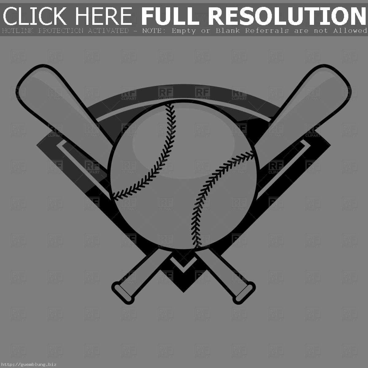 1200x1200 Crossed Baseball Bat Vector Hd Clipart Panda