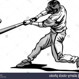 300x300 Stock Photo Baseball Batter Hitting Pitch Vector Image Arenawp