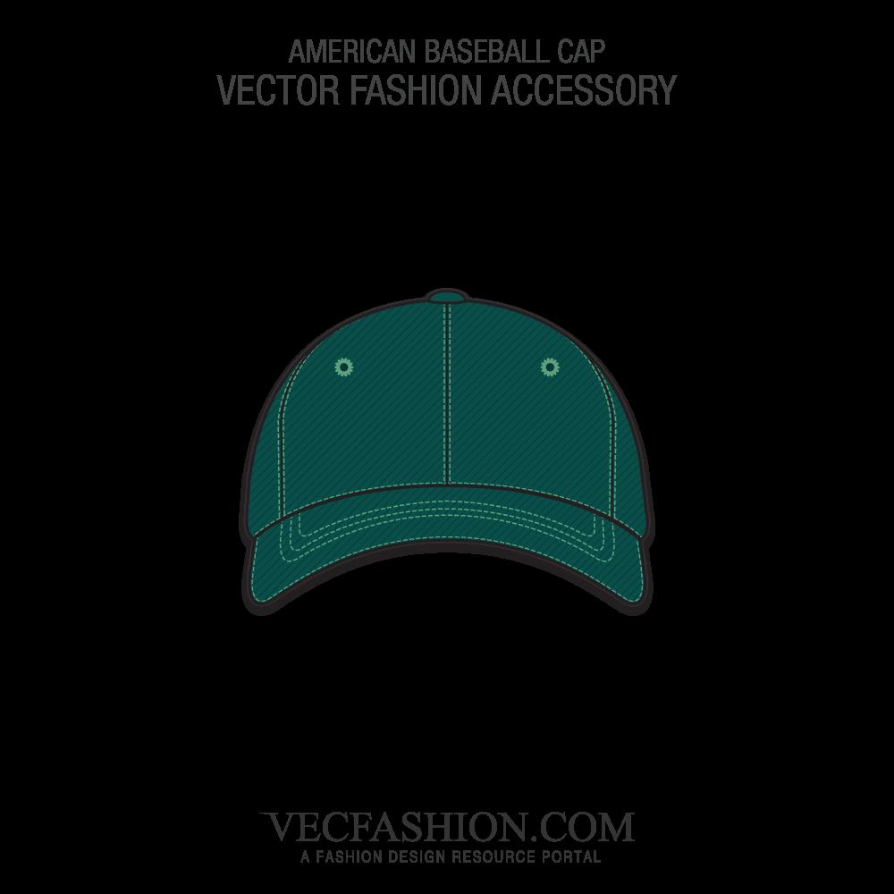 1000x1000 American Baseball Cap Vector Template