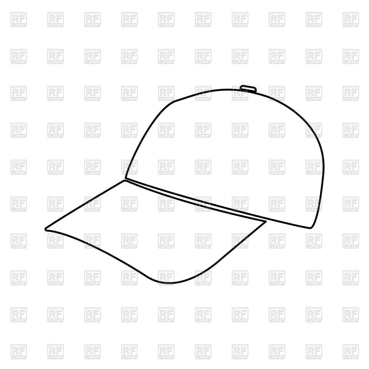 1200x1200 Baseball Cap Outline Icon Vector Image Vector Artwork Of Signs