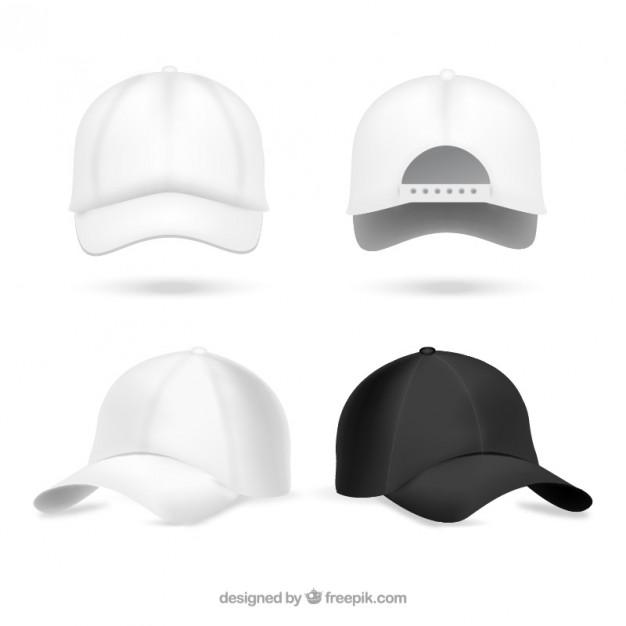 626x626 Realistic Baseball Caps Vector Free Download