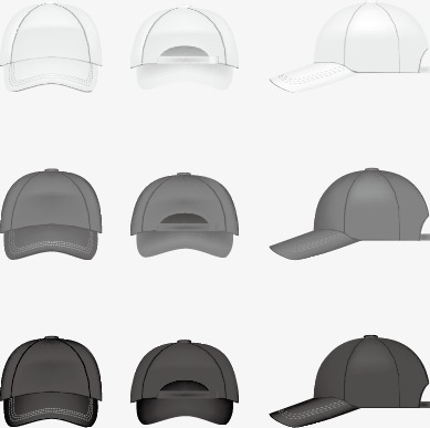 389x387 Vector Hand Painted Hat, Vector, Baseball Caps, Leisure Caps Png