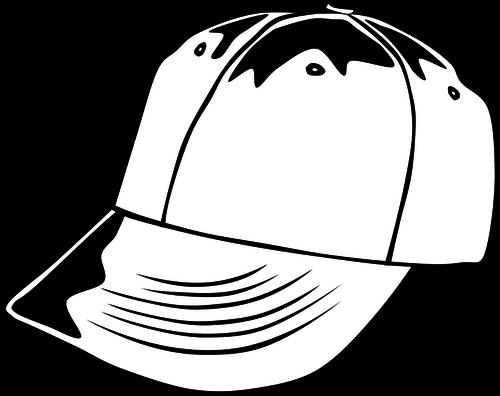 500x396 White Baseball Cap Vector Image Public Domain Vectors