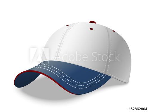 500x375 Baseball Cap. Vector