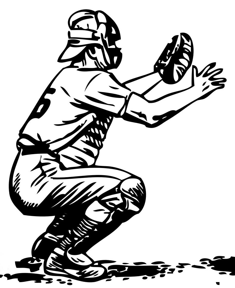 Baseball Catcher Vector
