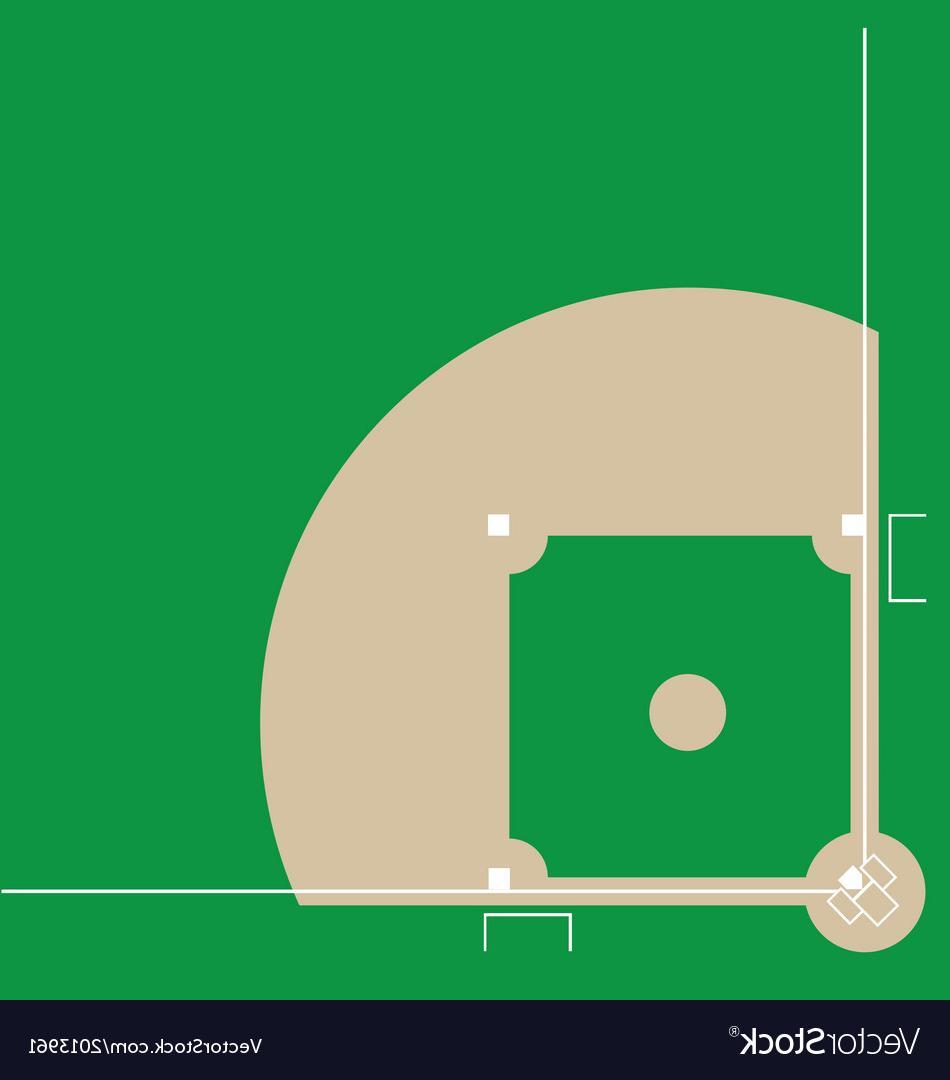 950x1080 Best Baseball Diamond Vector Design