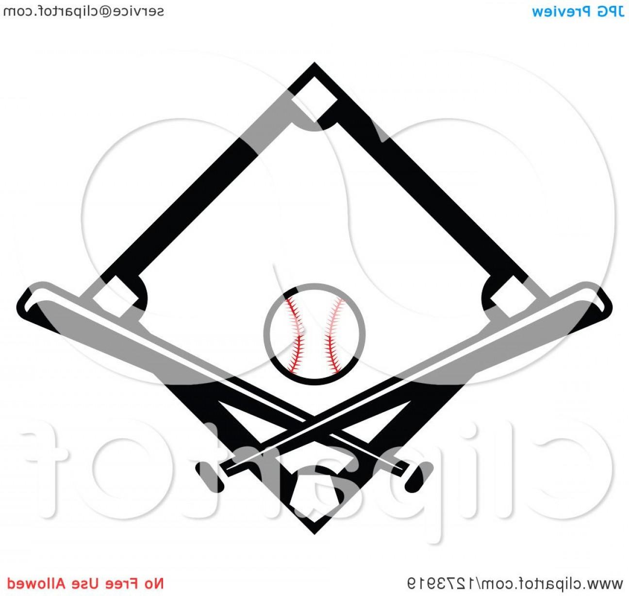 1296x1228 Black Baseball Diamond With A Ball And Crossed Bats Shopatcloth