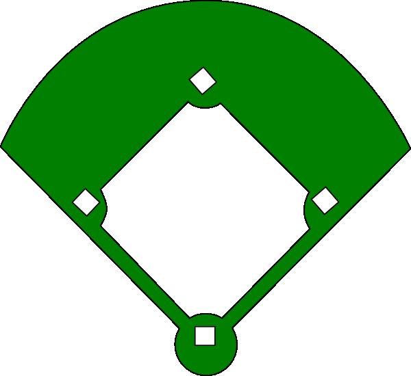 600x550 Edgy Baseball Field Clip Royalty Free