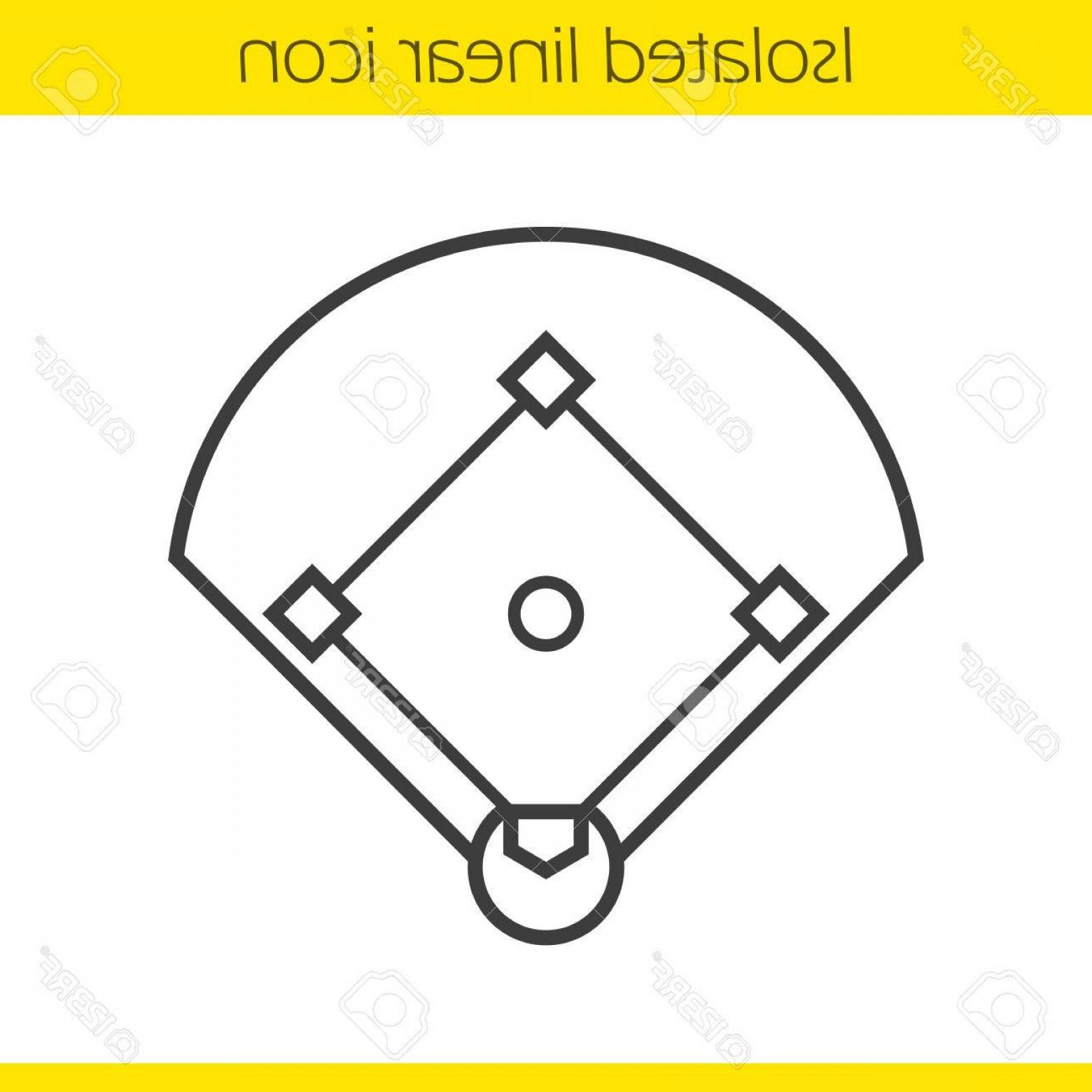 1560x1560 Photostock Vector Baseball Field Linear Icon Sport Game Field Thin