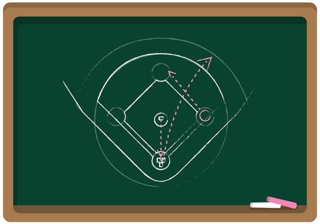 632x443 Vector Chalkboard Baseball Diamond Free Vector Download 343157