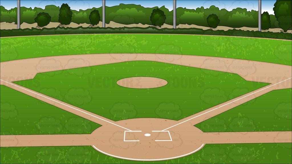 1024x576 Baseball Field Clip Art Baseball Diamond Background Cartoon