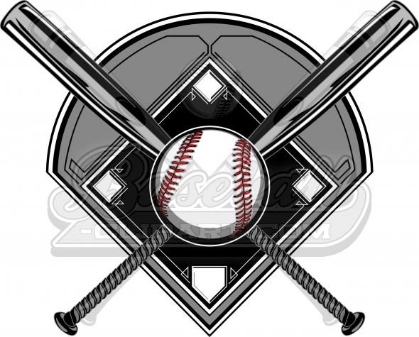 590x475 Baseball Diamond Clipart Logo. Baseball Bats Image With Baseball.