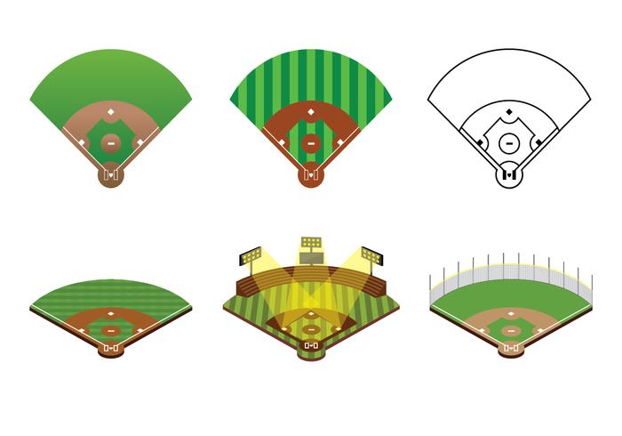 700x490 Baseball Diamond Vector