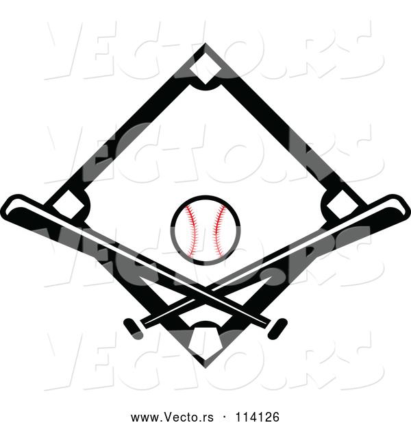 600x620 Baseball Diamond Vector 9