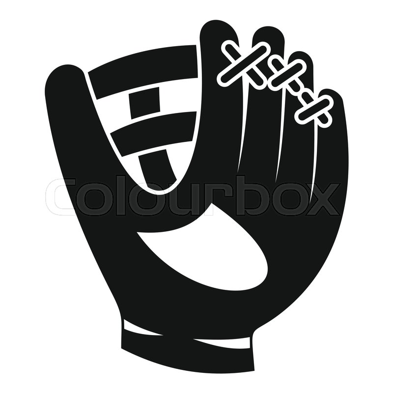 800x800 Leather Baseball Glove Icon. Simple Illustration Of Baseball Glove