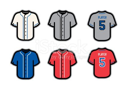 425x300 Baseball Jersey Stock Vectors