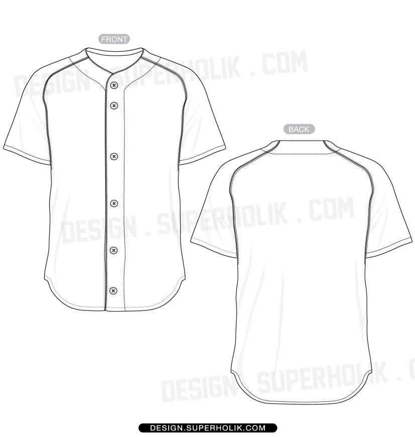 827x870 Baseball Jersey Shirt Template Set Draft Baseball