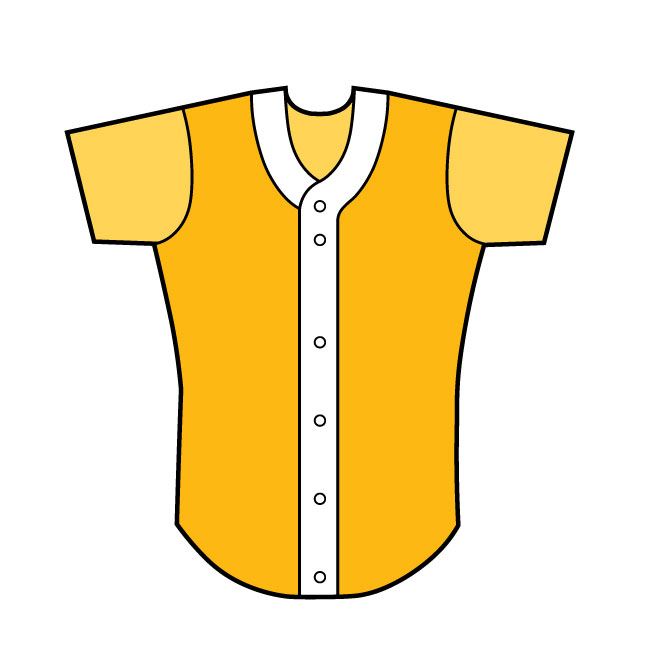 660x660 Baseball Shirt Front View Vector Image