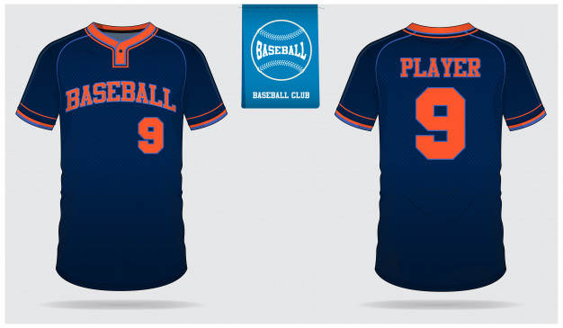 626x365 Baseball Jersey Template Design. Vector Premium Download