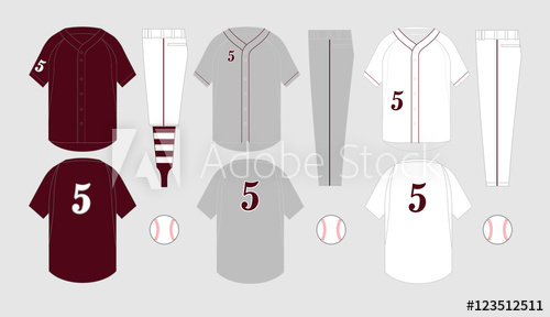 500x288 Baseball Jersey Vector Templates Various Uniform Styles