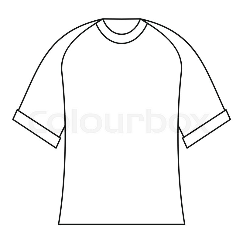 800x800 Blank Baseball Shirt Icon. Outline Illustration Of Blank Baseball